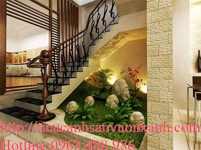 Thiết kế cầu thang mang thiên nhiên vào nhà
