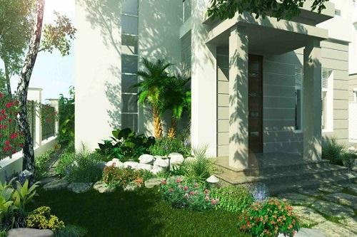 Những kiểu thiết kế sân vườn đẹp với hồ cá, bể bơi, cây cảnh