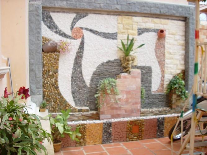 Tranh đá ốp tường sân vườn