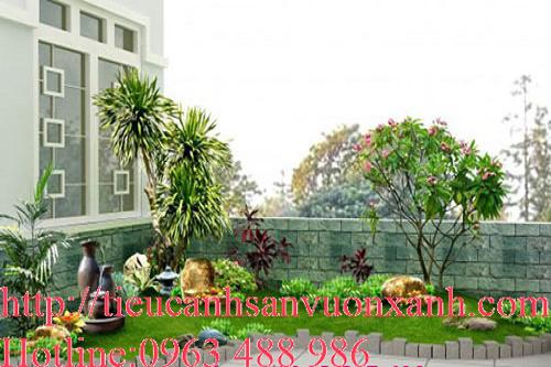 Tiểu cảnh sân vườn sân thượng có cây xanh