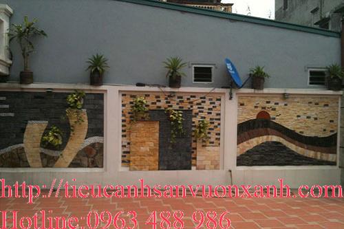 Tranh tường làm hàng rào cho nhà phố