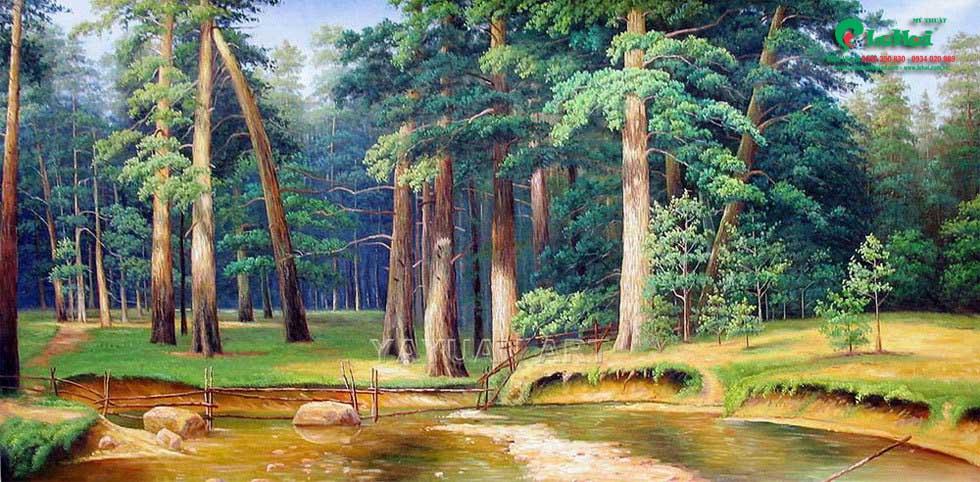thi công tranh sơn dầu