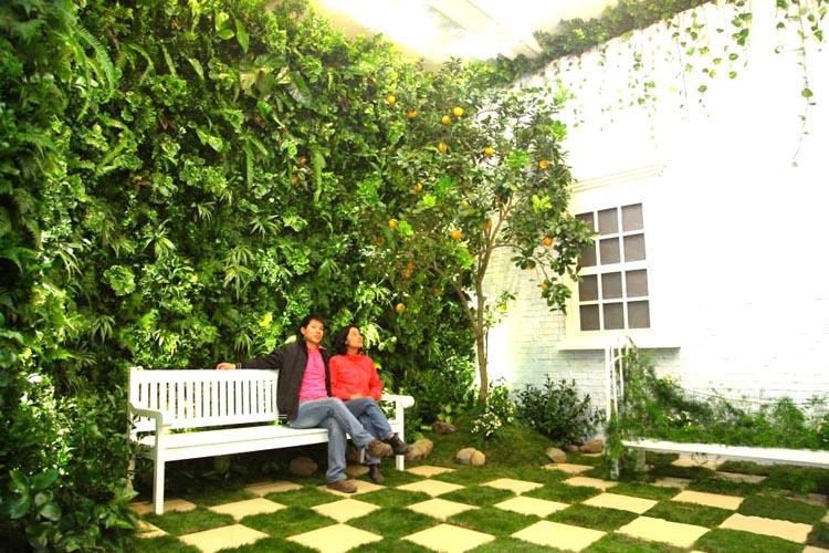 vườn tường đứng cho gia đình